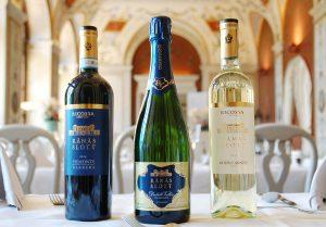 Rånäs egna drycker, rött vin, champagne och vitt vin