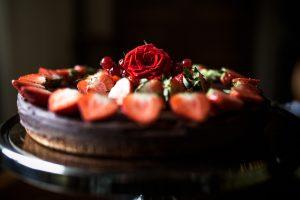 Chokladtårta med ros